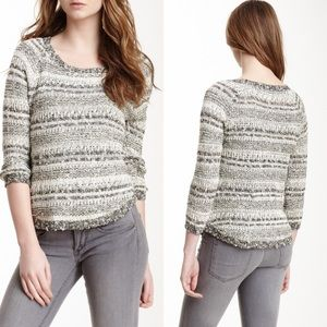 New Lucky Brand Knit Striped Pullover Sweater